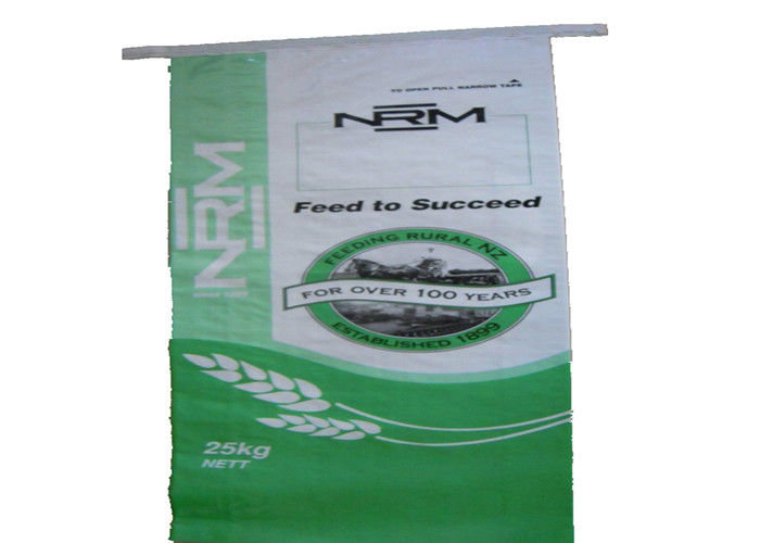 Double Folded PP Woven Polypropylene Feed Bags Gravure Printing Bopp Lamination
