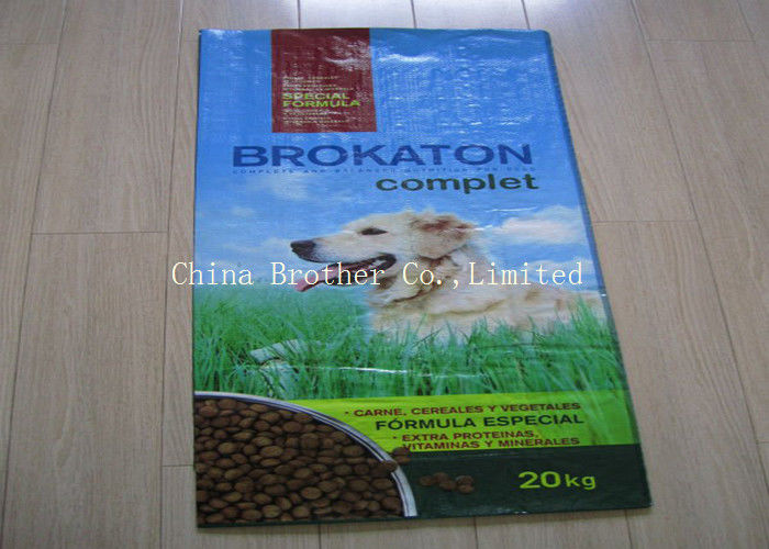Animal Laminated Woven Polypropylene Feed Bags Recycled Eco - Friendly